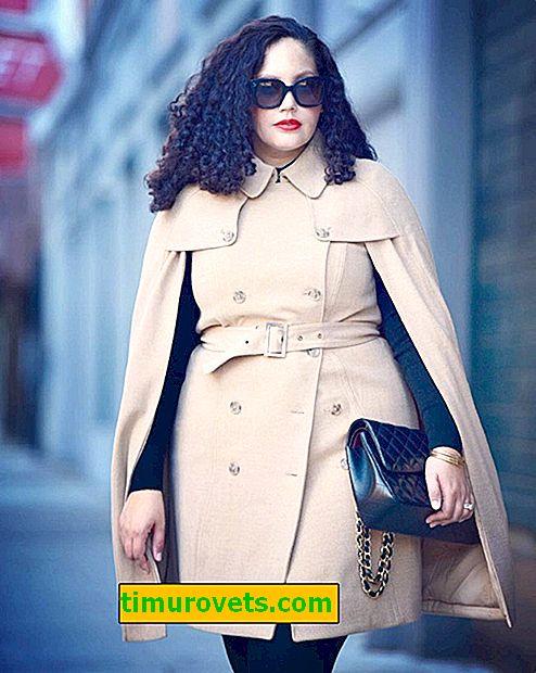 Oblikuje kapute za žene s prekomjernom težinom