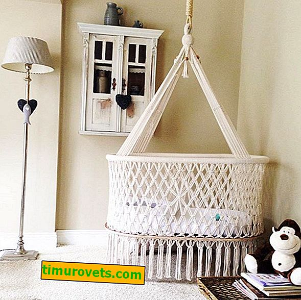 How to make a hanging cradle from knitted yarn