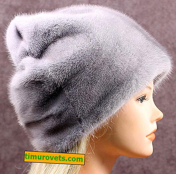Chapeaux en vison: styles à la mode, photo