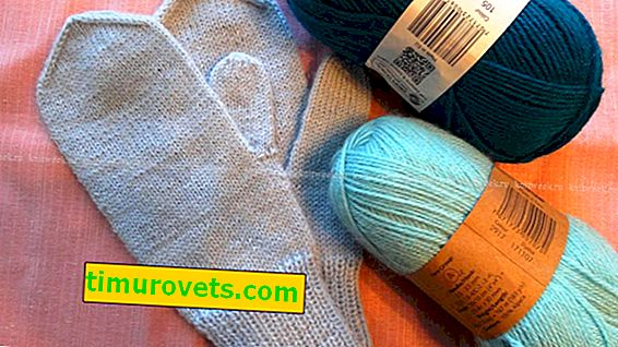 How much yarn is needed for women's mittens with knitting needles