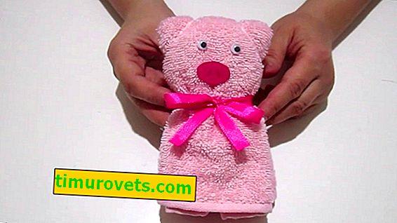 Kako zložiti prašiča iz brisače z lastnimi rokami?