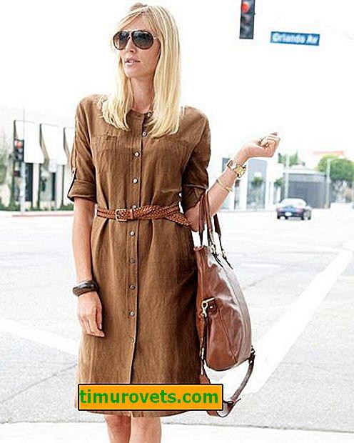 Stilarter med kjoler til kvinder 40 år gamle