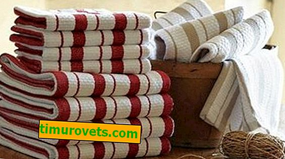What are the sizes of kitchen towels?