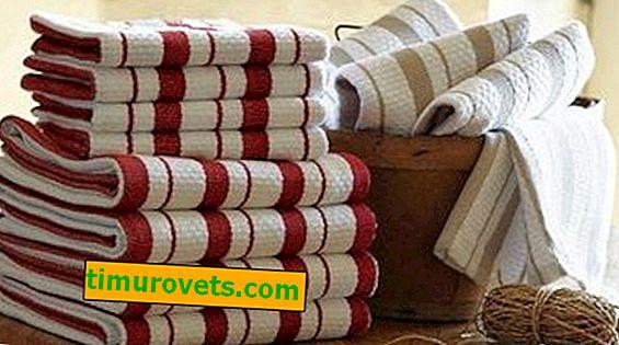 Kakšne so velikosti kuhinjskih brisač?