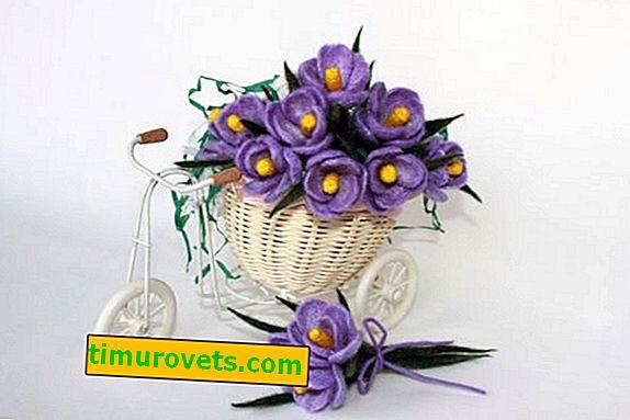 Вълнени цветя мокро сплъстяване