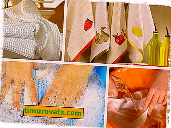 Kako beliti kuhinjske brisače z rastlinskim oljem?