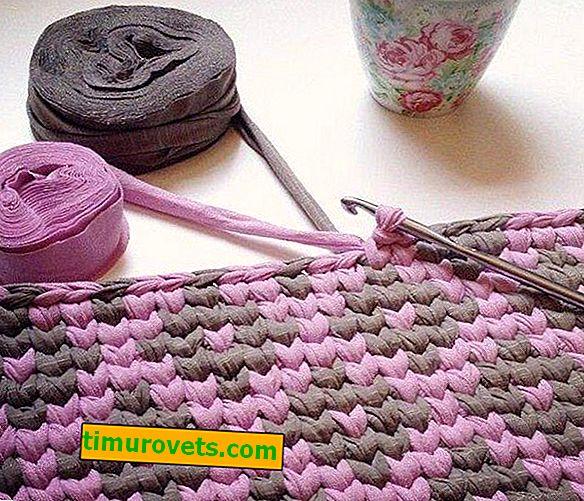 Wie häkelt man einen Teppich aus Fäden?