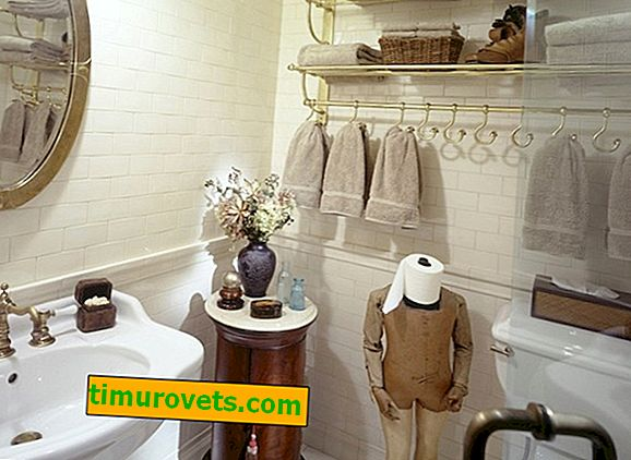 Storage of towels in the bathroom