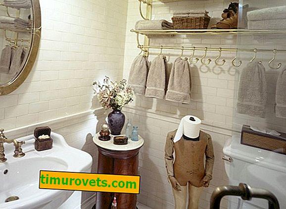 Shranjevanje brisač v kopalnici
