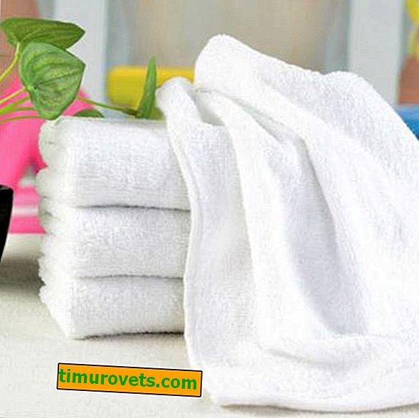 Ako bieliť biele froté uteráky?