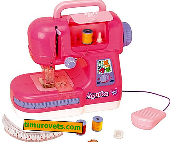 How to thread a children's sewing machine