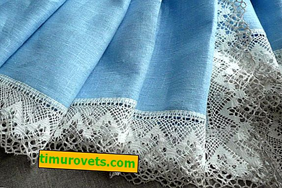 How to sew lace to a tablecloth, step by step photo?