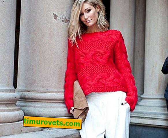 Плетени стилове на пуловер