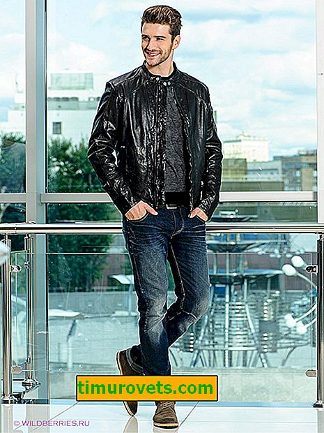 How a jacket should sit on a man: jeans and leather