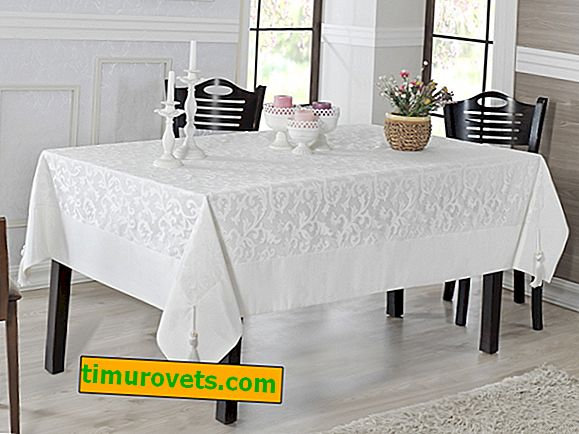 To sew a tablecloth on a rectangular table with your own hands