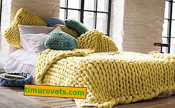 Tricoter à la main un plaid de fil épais
