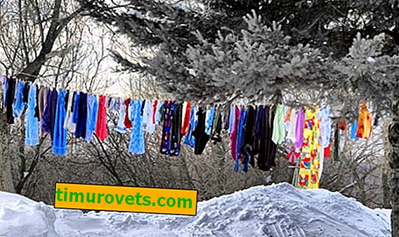 Why are clothes dried in the cold?