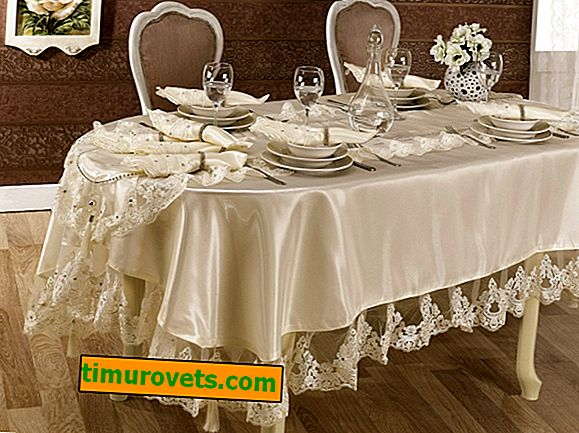 How to sew a tablecloth on an oval table with your own hands?