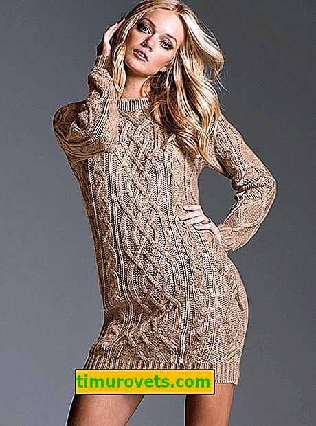 Como escolher fios de tricô para um vestido