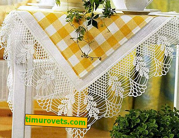Crocheting a tablecloth with a corner