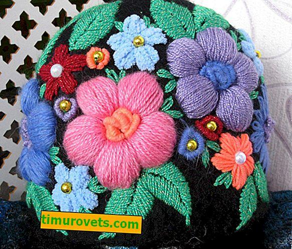 Vez vunenim nitima: cvijeće, uzorci