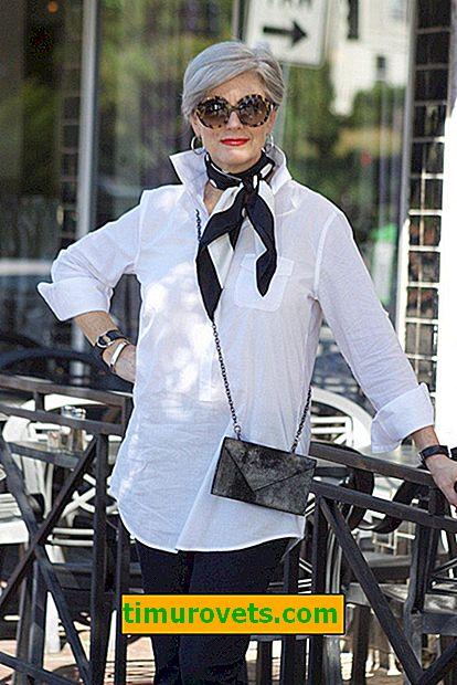55 - gospa spet!  Kaj obleči zrelo žensko?