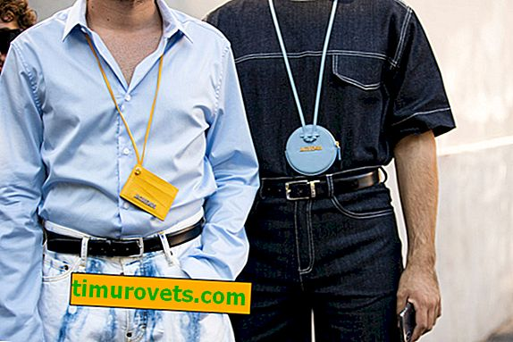 Give a man a wallet around his neck - this is a new trend