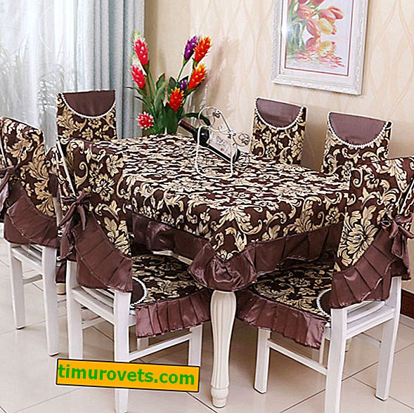 Do-it-yourself tablecloth made of curtain fabric