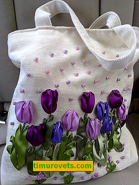 Embroidery bags ribbons