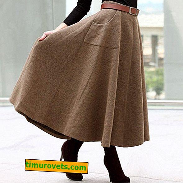 Drape skirt styles