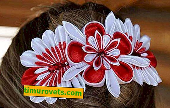 Направи си клипчета за коса от сатенена панделка