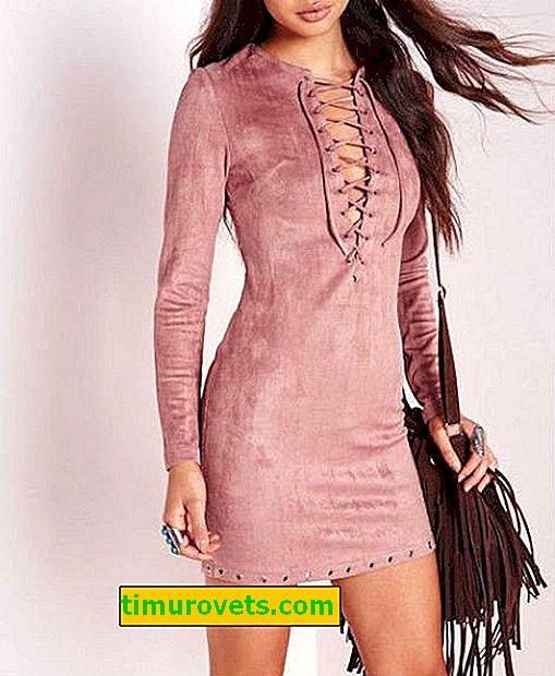 Стилове на рокли от изкуствен велур (снимка)