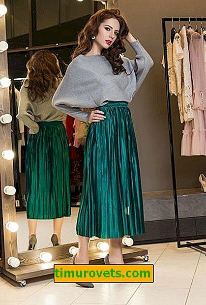 Как да носите сатенена пола
