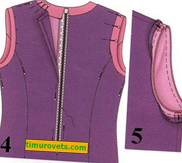 Как да шиете хастар на рокля?
