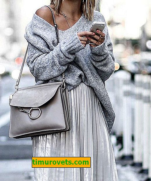 What to wear a gray bag with?