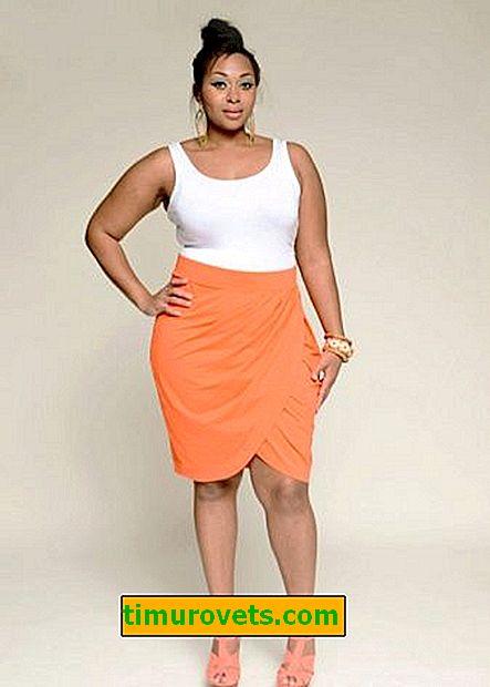 Vzory sukní pre obézne ženy