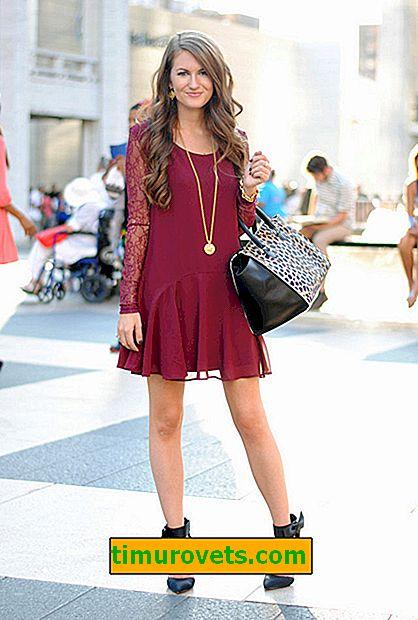 O que vestir com um vestido cor de vinho?
