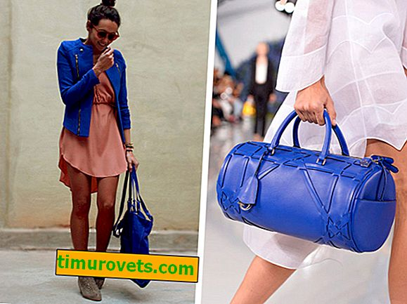 What to wear with a blue bag?
