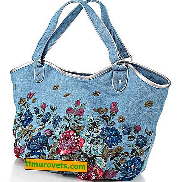 Зашийте чанта от стари дънки - как да украсите