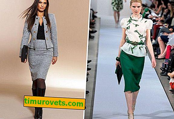 Ženska odijela sa suknjom, novi predmeti