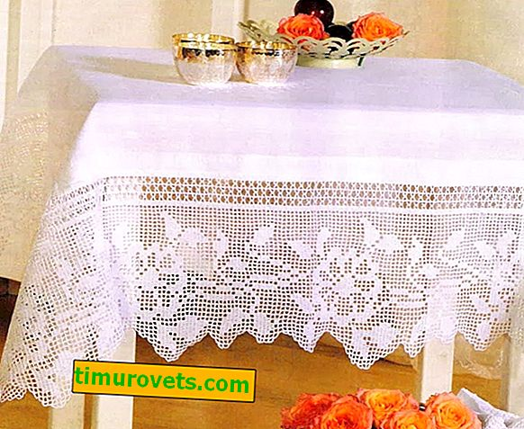 Crocheting tablecloths