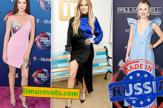 Russian brands on Hollywood celebrities