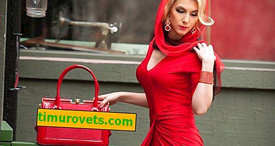 Как да носите червена чанта