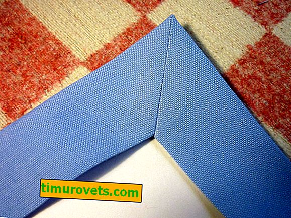 How to hem a tablecloth with a corner