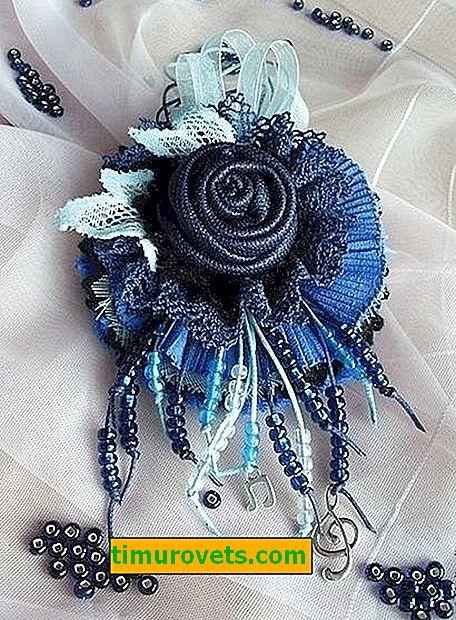 DIY stoffbrosje på en kjole