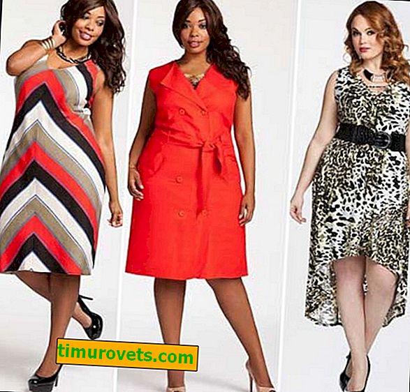 Obez kadınlar için yazlık elbise stilleri