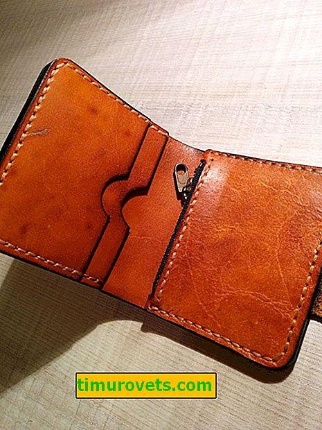 DIY usnjena denarnica