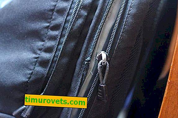 Sådan fikseres en lynlås på en rygsæk