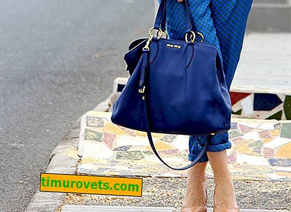 ¿Qué llevar con una bolsa azul?
