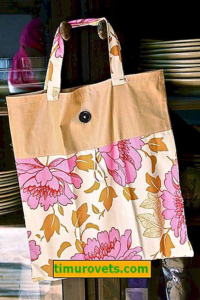 Modèle de sac à provisions en tissu